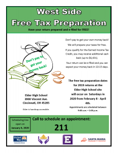 Elder Tax Prep Flyer