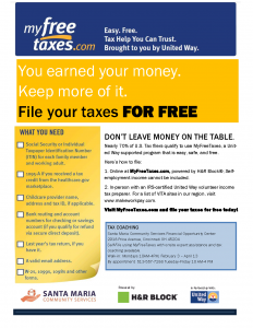 Tax Coaching MFT flyer