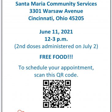 COVID-19 Vaccine Clinic – June 11 from 12-3 p.m.
